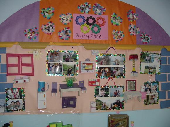 幼儿园全家福布置幼儿园教室布置图片幼儿园全家福