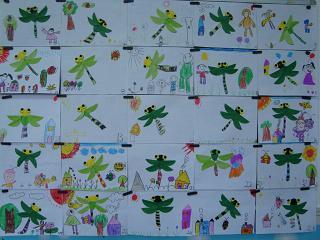 幼儿园简笔画小蜻蜓分享展示