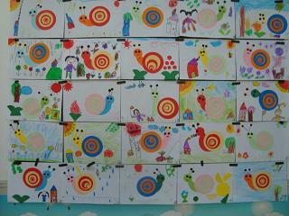 中班美术兴趣班蜗牛分享展示